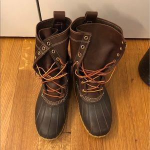"Men's L.L.Bean Boots, 8"" Thinsulate Brown 10"